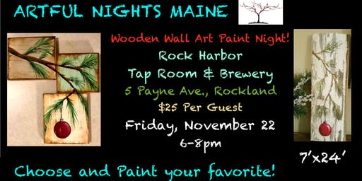 Wooden Wall Art Paint Night at Rock Harbor Tap Room & Brewery