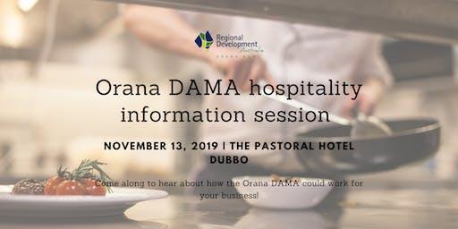 Orana DAMA Hospitality Information Session Dubbo