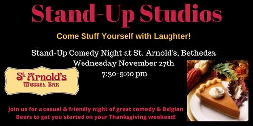 Stand-Up Studios Comedy All Stars Pre-Thanksgiving Show - Bethesda - Wed. Nov. 27 7:30pm