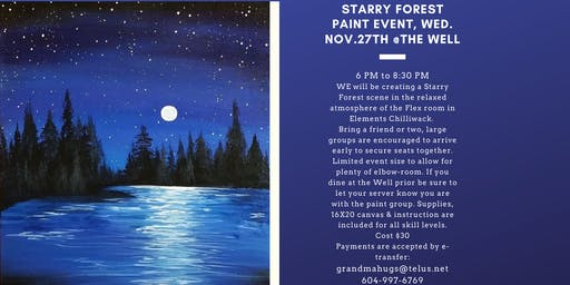 Starry Forest Paint Event