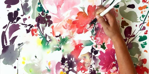 GuestJam: Abstract Floral Watercolors with Ingrid Sanchez