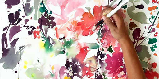 GuestJam: Abstract Floral Watercolors with Ingrid Sanchez