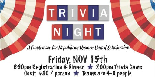 Trivia Night - A Fundraiser for Republican Women United Scholarship