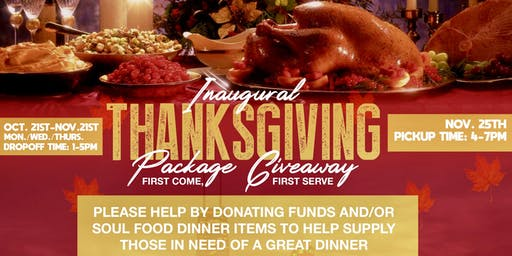 THANKSGIVING PACKAGE GIVEAWAY