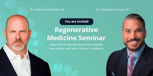 Regenerative Medicine FREE Lunch and Seminar November 19
