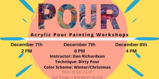 POUR. Acrylic Pour Painting Workshop.