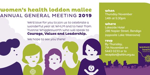 Women's Health Loddon Mallee AGM 2019