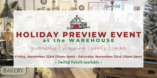 Holiday Preview Event - Little Red Barn Door's Warehouse (November 22 & 23)
