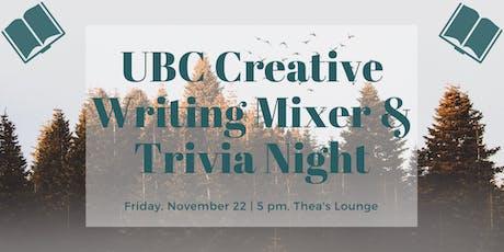 UBC Creative Writing Mixer and Literary Trivia Night tickets
