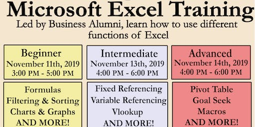 Microsoft Excel Training- Advanced
