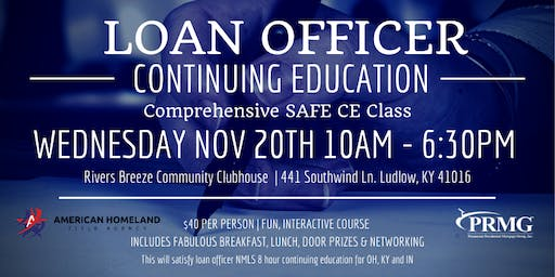 LOAN OFFICER CONTINUING EDUCATION