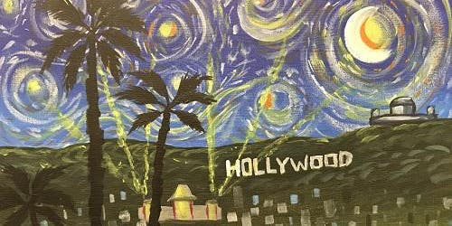 'Starry Hollywood' Paint and Sip Event