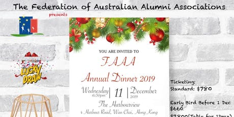 FAAA Annual Dinner 2019 tickets