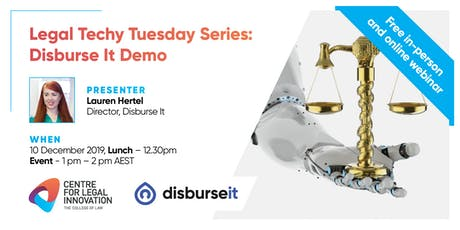 Legal Techy Tuesday Series: Disburse It Demo (in-person and online) tickets