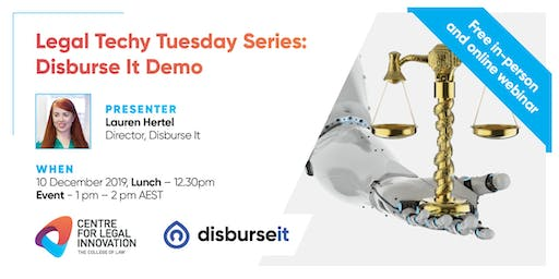 Legal Techy Tuesday Series: Disburse It Demo (in-person and online)