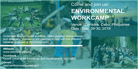 Environmental Workcamp - Cordova, Philippines tickets