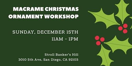 Macrame Christmas Ornament Workshop