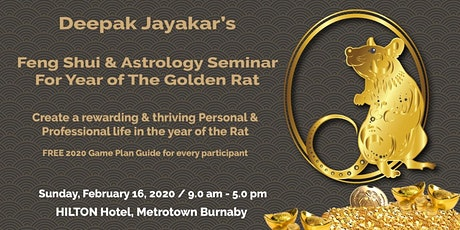 Feng Shui & Astrology for Year of The Golden RAT 2020 tickets