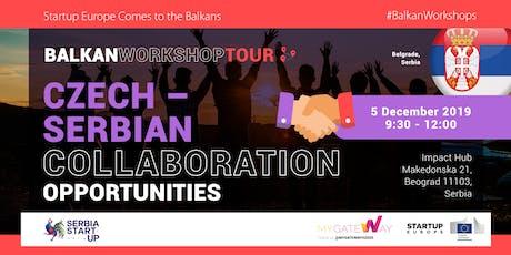 Learn about Czech-Serbian collaboration opportunities! (Belgrade, Serbia) tickets