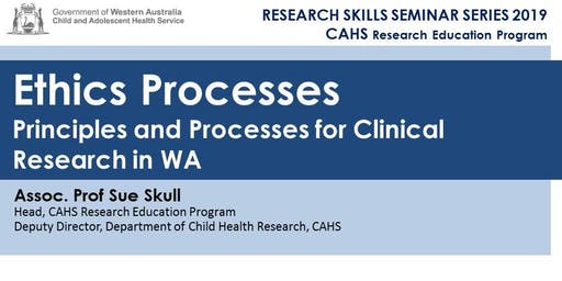 Research Skills Seminar: Ethics Processes - 22 Nov