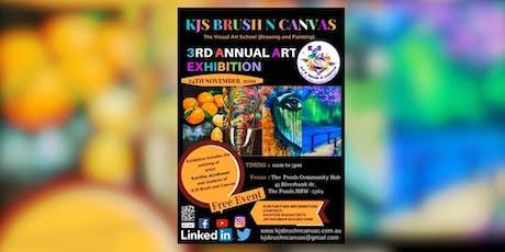 KJ'S BRUSH N CANVAS - 3RD ANNUAL- ART EXHIBITION tickets