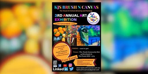 KJ'S BRUSH N CANVAS - 3RD ANNUAL- ART EXHIBITION