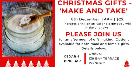 Sip 'n make Christmas gifts  tickets