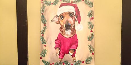 Sip and Paint - Holiday Paint Your Pet at Iron Goat Brewing tickets