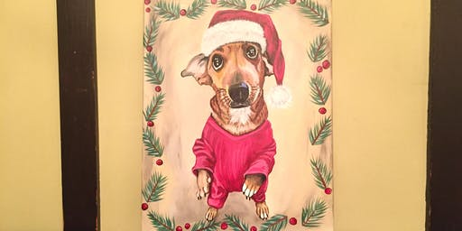 Sip and Paint - Holiday Paint Your Pet at Iron Goat Brewing