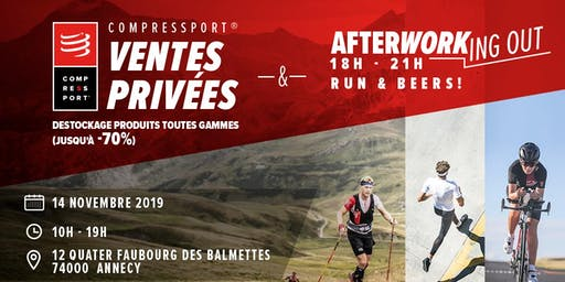 Ventes privées et afterwork-ing out by Compressport®