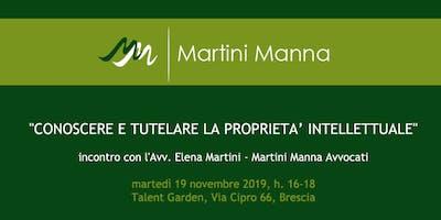 Conoscere e tutelare la proprietà intellettuale - Brescia, 19 novembre 2019