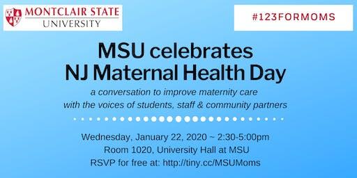 Montclair State Maternal Health #123ForMOMS on Jan. 22, 2020