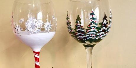 Sip and Paint - Holiday Wine Glasses @ Beerocracy tickets