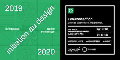 Éco-conception – Les spéciales – module d'initiation au design