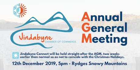 Jindabyne Chamber of Commerce AGM tickets