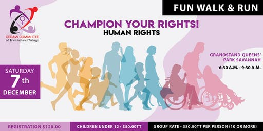 CHAMPION YOUR RIGHTS-Human Rights(FUN WALK & RUN)