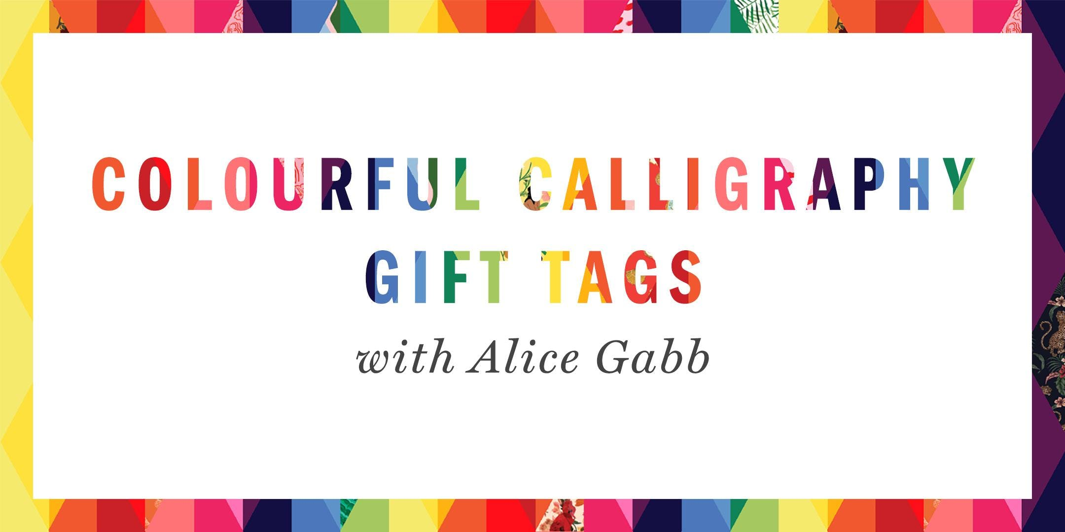 Colourful Calligraphy Gift Tag