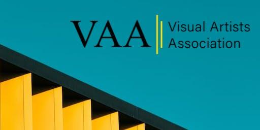Visual Artists Association networking at London Art Fair
