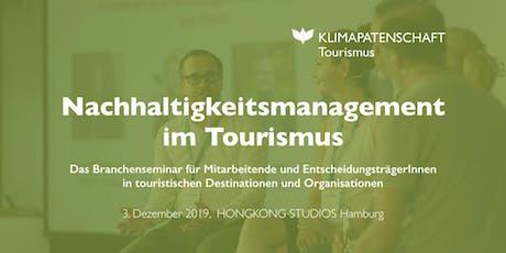 Nachhaltigkeitsmanagement im Tourismus Tickets
