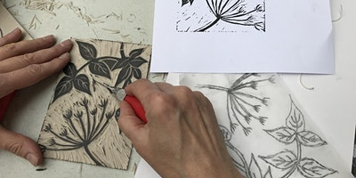Linocut printing workshop