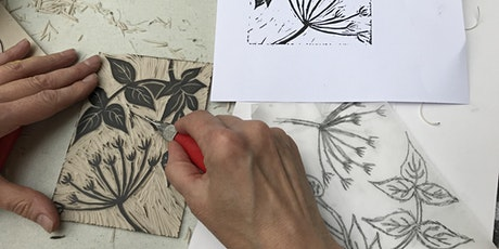 Linocut printing workshop tickets