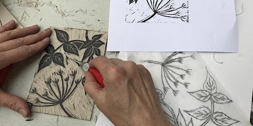 Linocut printing workshop