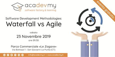 Software Development Methodologies: Waterfall vs Agile biglietti