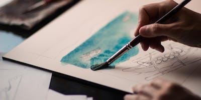 Paint-Along Art Classes for Adults