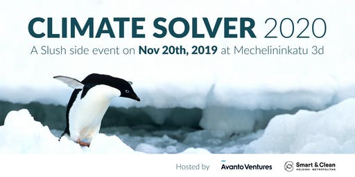 Climate Solver 2020 - tickets are subject to approval