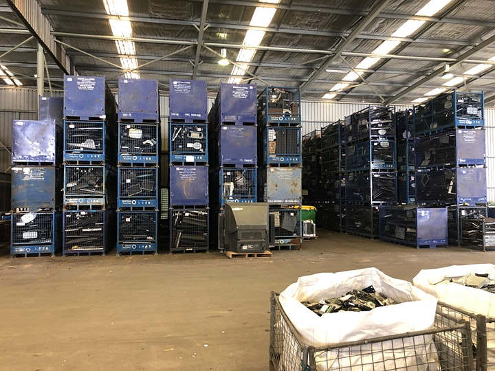 E-waste Recycling facility tour image
