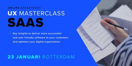 UX Masterclass - User Experience Design voor Software & Saas tickets