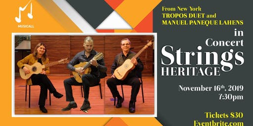 Tropos duet and Manuel Paneque in concert in Miami: Strings heritage
