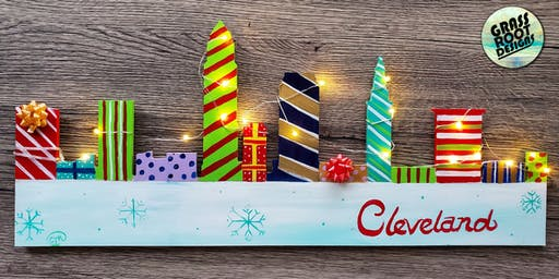 Light Up Holiday Cleveland Skyline | Paint + Brunch!