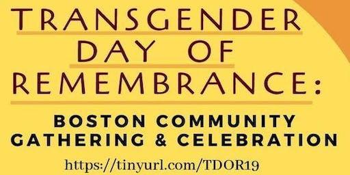 Transgender Day of Remembrance: Boston Community Gathering